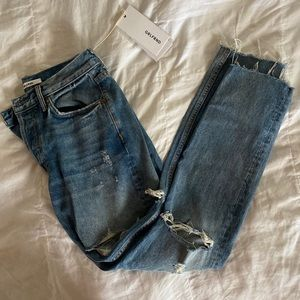 GRLFRND Distressed High Waisted Jeans